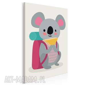 obraz na płótnie - dziecięcy zwierzę koala 50x70 cm 80214, koala, miś