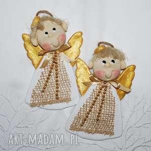 świąteczne prezenty Braciszkowie mili - aniołki z masy solnej, anioły, dekoracja
