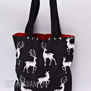 Torba na zakupy Shopperka jelenie czerwone, torba, shopperka, ramię, zakupy,
