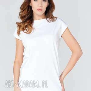 tessita bluzka t111 kolor biały, dekolt, bluzeczka, bluzka, koszulka, wygodna