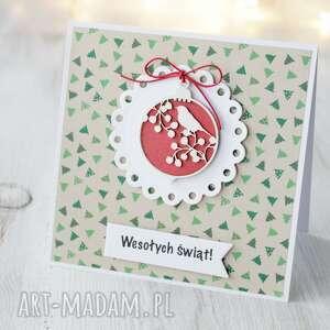kartka świąteczna z bombką - boże narodzenie święta