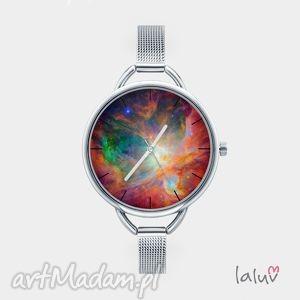Prezent Zegarek z grafiką UNIVERSE, bransoleta, kosmos, gwiazdy, wszechświat, niebo