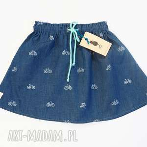 ręcznie robione ubranka spódniczka denim