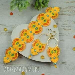 sunny - kolorowy komplet biżuterii z koralików
