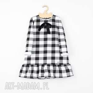 Prezent Sukienka w krate bialo czarna, krata