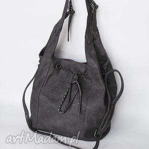 Torba na ramię grafitowa, torba, torebka