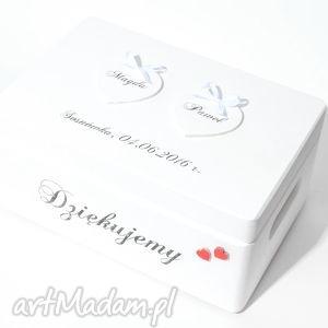 handmade księgi gości ślubne pudełko na koperty kopertówka personalizowane napis dziękujemy