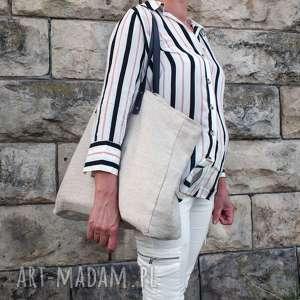 wyjątkowy prezent, torba konopna slow, pojemna, ekologiczna torba