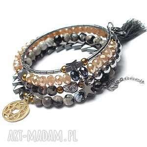 alloys collection wrapped /rock star/, stal, kamienie, chwost, czaszka, kryształki