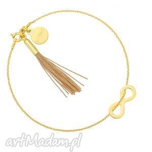 ręcznie robione bransoletki złota bransoletka z nieskończonością i chwostem