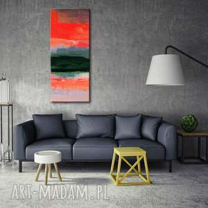 Duży obraz nowoczesny do modnego salonu, obrazy-na-płótnie, czerwony
