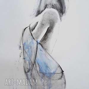 blue, obraz-kobieta, rysunek-kobieta, niebieski-obraz, niebieska-ilustracja