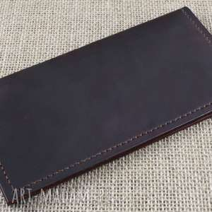 Duży skórzany portfel na karty i dokumenty, portfelik, etui, paszport
