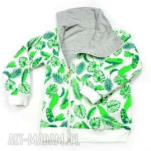 handmade ubranka liście dwustronna asymetryczna bluza z kołnierzem, bawełniana bluza dla dziecka, rozmiary 68 -116