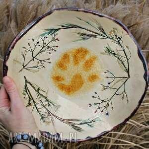 """Patera """"kwiaty polne"""" ceramika enio art patera, na owoce, kwiaty"""