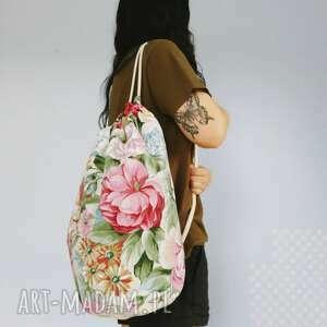 plecak worek marynarski kwiaty, plecak, worek, marynarski, xxl, torebka