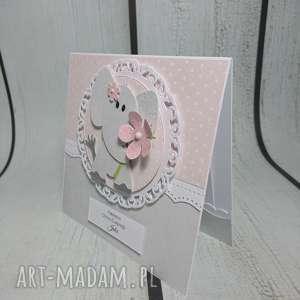 zaproszenie kartka słonikowa - chrzest, narodziny, urodziny, sesja, pamiątka