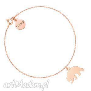 bransoletka z niedźwiedziem różowego złota, bransoletka, niedźwiedź, miś