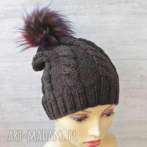 ręcznie wykonane czapki czapka zimowa z pomponem unisex