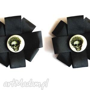 skull - klipsy do butów, czaszka, klipsy, ozdoby, buty, wstążka, akcesoria