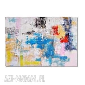 tetuan, abstrakcja, nowoczesny obraz ręcznie malowany, obraz, ręcznie, malowany