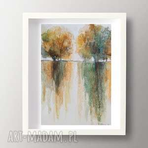 pejzaż - abstrakcja,akwarela formatu 12,5/18 cm, pejzaż, akwarela, papier