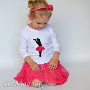 ubranka tiulowa baletnica amarant 3/4 rękaw, baletnica, tiul, elegancka dla dziecka
