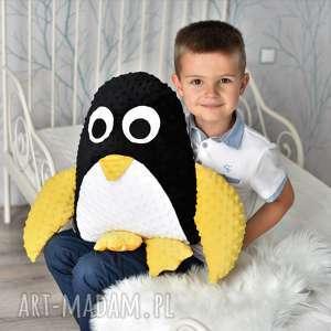 poduszka dziecięca pingwin, przytulanka minky, pokój dziecka