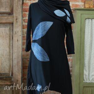 Jeans Wind-sukienka i komin, dresowa, sukienak, asymetryczna, motyw, wymyślna