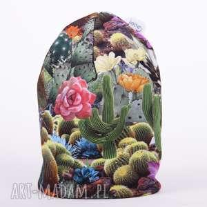 hand-made czapka kaktusy