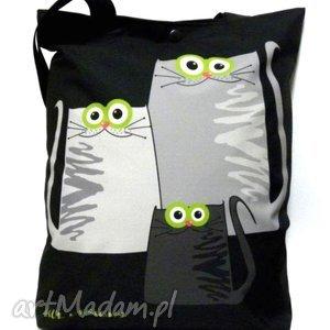 Torba na napę z kotami - torba, koty, pojemna