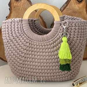 handmade duża torba koszyk damska na szydełku