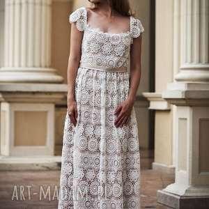 ślub suknia ślubna koronkowa w stylu boho -nowa model pokazowy, rozmiar