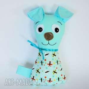 piesek torebkowy - tomuś - 24 cm - pies, maskotka, przytulanka, niemowlę, roczek