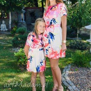 mrugala komplet sukienek lynette dla mamy i córki, sukienki, dlamamyicórki, kwiaty