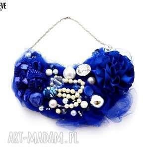 kobalt naszyjnik handmade - naszyjnik, niebieski, kobalt, szafir, granatowy
