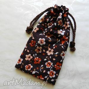Etui bawełniany woreczek na okulary w kwiatki happyart etui