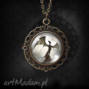 handmade naszyjniki medalion shadow dragon - romantyczny