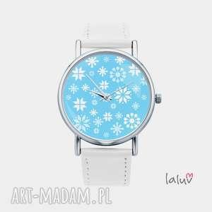 zegarek z grafiką mróz, zima, śnieg, grafika, prezent, święta, świąteczny
