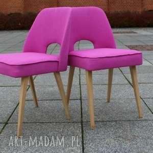 Krzesło MUSZELKA różowe PROMOCJA, krzesło, vintage, latasześćdziesiąte, muszelka