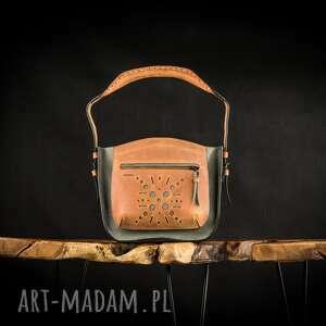 ręcznie zrobione mała skórzana torebka do ręki z wygodnym paskiem, wykonana od ladybuq