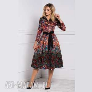sukienka sabina midi celestia, midi, na jesień