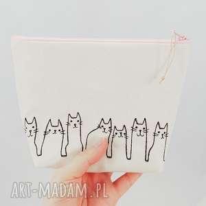 ręcznie robione kosmetyczki kosmetyczka kotki