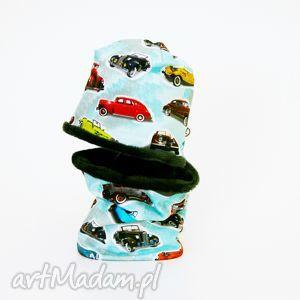 ubranka ciepła czapka i komin - old cars, czapka, komin, komplet, zimowy, ciepły
