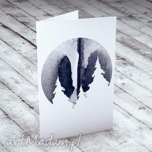 ręcznie wykonane prezent świąteczny góry - karteczka na świąteczne życzenia