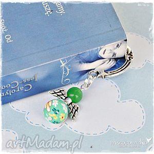 kwiecisty anioł w zieleni - zakładka, anioł, aniołek, prezent, mikołaj