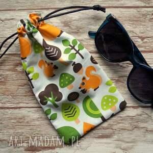 etui / bawełniany woreczek na okulary, woreczek, słoneczne, motyw