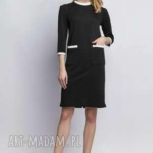 Sukienka z kieszeniami, SUK103 czarny, sukienka, koktajlowa, wieczór, pracy