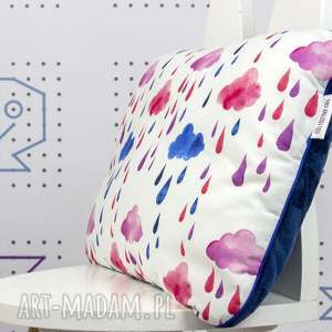 dla dziecka płaska poduszka do łóżeczka chmurki, poduszka, płaska