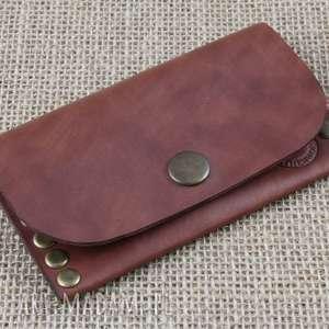 portfele portfel nitowany, portfel, portmonetka, skóra, prezent, etui, karty
